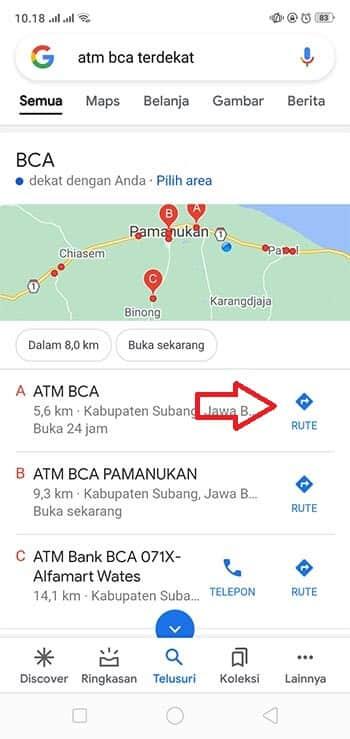 Lokasi ATM Terdekat
