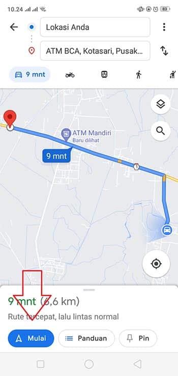 Cara Mencari Lokasi ATM Terdekat